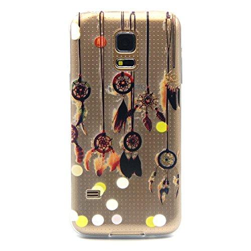 Cozy Hut Custodia per Samsung Galaxy S5 mini, Slim Case per Samsung Galaxy S5 mini, Samsung Galaxy S5 mini Case Cover, Morbido Copertura per Samsung Galaxy S5 mini, TPU Crystal Clear antigraffio con Campanula Cover posteriore per Samsung Galaxy S5 mini - ciondolo Campanula