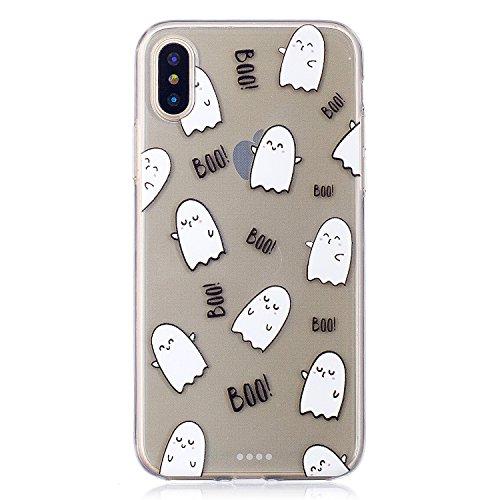 """Coque pour Apple iPhone X , IJIA Transparent Pissenlit Petite Fille TPU Doux Housse Silicone Case Bumper Cover Shell Etui pour Apple iPhone X (5.8"""") HX22"""