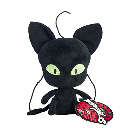 Bandai- Miraculous Ladybug- Kuscheltier 15cm- Plagg, das schwarze Kwami der Zerstörung- 39831