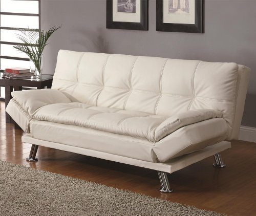 contemporary-white-adjustable-futon-sofa-bed-by-coaster-home-furnishings