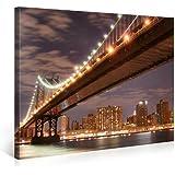 Foto en lienzo NY BROOKLYN Impresión artística en lienzo, creado por Tom Harris, Cuadros en lienzo previamente fijados, listos para ser colgados. AmazonES - Comparable con un cuadro al óleo - y no a un póster o cartel 100x75cm #e3401