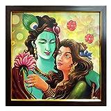 Modern Art Radha Krishna Canvas Frame By...