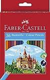 Faber-Castell 120136 - Buntstifte 'Castle', 36 Stifte im Etui und 1 Spitzer