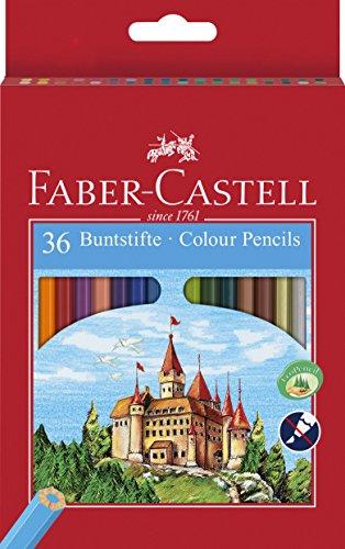 "Faber-Castell 120136 - Buntstifte \""Castle\"", 36 Stifte im Etui"