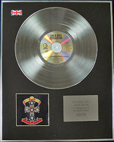 Guns N 'Roses - Limitata Edizione CD platinum disc - Appetite for Destruction