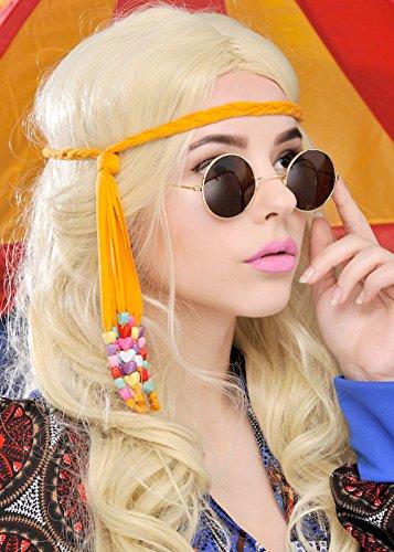 Dunkler 70er Runde Hippie-Sonnenbrille