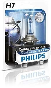 Philips BlueVision ultra Xenon-Effekt H7 Scheinwerferlampe 12972BVUB1, Einzelblister