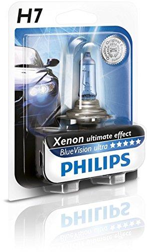 Preisvergleich Produktbild Philips BlueVision ultra Xenon-Effekt H7 Scheinwerferlampe 12972BVUB1, Einzelblister
