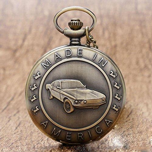 QB-Pocket watches Vintage Car Design Nostalgische Taschenuhr -