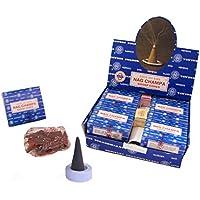 Räucherkegel Satya Sai Baba Nag Champa Dhoop Cones 12 Schachteln 120 Kegel mit Halter Duft Aroma Großpackung Vorrat preisvergleich bei billige-tabletten.eu