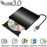 Qibaok Masterizzatore DVD Esterno USB 3.0 CD/ DVD-RW Portatile Unità Ottica Esterna di Scrittura Lettore Burner Drive per iMac MacBook Pro/ Air o Laptop Desktop (Nero)