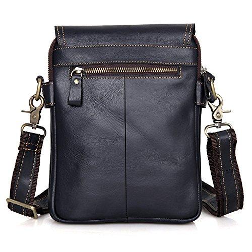 MeiliYH Herren Umhängetasche Retro Einfache Schulter Multifunktions Messenger Bag für Männer Dunkelblau