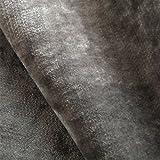 Tabley 'Paris gris Plain': terciopelo gris tapicería de sofá cojín tela retardante de llama Material de telas Loome, Tabley 'Paris Grey Plain' : Grey, per metre