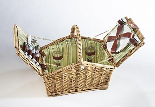 Kobolo Picknickkorb Picknickkoffer mit Viel Zubehör für 2 Personen