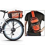 Roswheel 2 in 1 Fahrradtasche Gepäckträgertasche Radtasche Rucksack Wasserdicht 5L