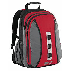 "STM DP-1107-2 large loop backpack up to 17"". - charcoal/red"