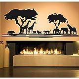 wukongsun Afrikanische savanne Tier Baum wandtattoos Dekoration Wohnzimmer afrikanischen Zoo...