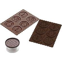 silikomart CKC05 Kit para Hacer Galletas Dolce Vita, Color marrón
