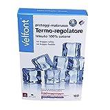 Velfont coprimaterasso proteggi materasso con angoli termoregolatore in tessuto outlast di 100% cotone, Matrimoniale cm 160x190/200
