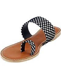 BFM Ladies Flats | Black | White And Black | Women Slippers | Ladies Slippers | Ladies Flats | Chappal | Fashion...