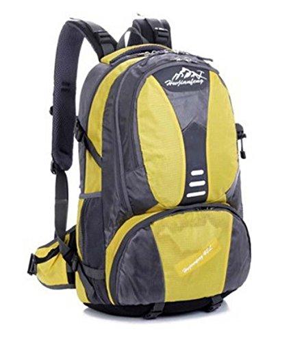 ShangYi Spalla sport borse donna uomo impermeabile parapioggia per outdoor escursionismo zaino viaggio borsa 42L litri , orange Yellow