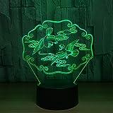 Mandarinente 3D Illusion Nachtlicht Tier USB Tischlampe Bunte LED 3D Lampe für Hochzeitsfest Dekor Liebhaber Geschenk han-10129