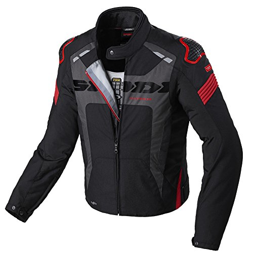 Spidi Warrior H2Out Waterproof Textile Sporty Motorcycle Jacket - Black/Red M