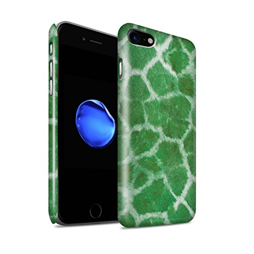 STUFF4 Glanz Snap-On Hülle / Case für Apple iPhone 8 / Grün Muster / Giraffe Tier Haut/Print Kollektion Grün