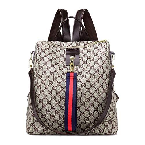 ETESCO Mode Damen Rucksack Tasche Leder Daypack Wasserdichte Handtasche Leder PU Backpack Freizeitrucksack Anti-Diebstahl-Rei?verschluss Sc...