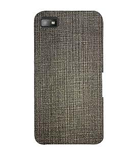 EPICCASE black texture Mobile Back Case Cover For BlackBerry Z10 (Designer Case)