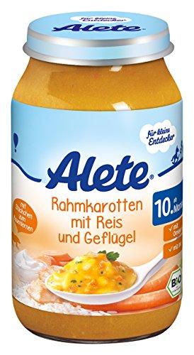 Alete Rahmkarotten mit Reis und Geflügel, 6er Pack (6 x 220 g)
