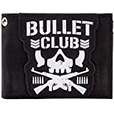 Bullet Club Japanese Wrestling Group Skull Logo Black ID & Card Bi-Fold Walle