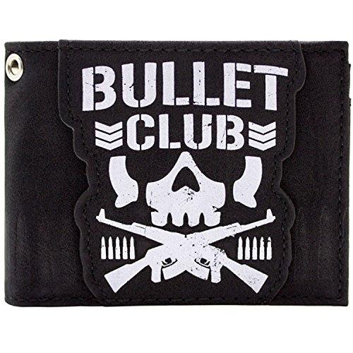 Bullet Club japanische Ringkampfgruppe Schädel Schwarz Portemonnaie Geldbörse (Hinweis Club)