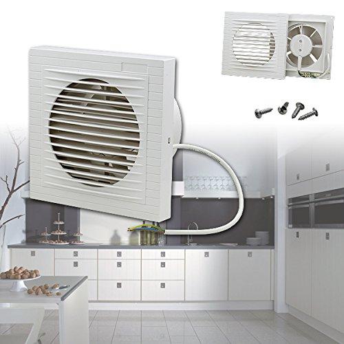 VINGO® Lüfter Abluft Ventilator Ø 100 mm in weiß Badlüfter Küche Einbaulüfter 220v CE Zertifikation Deckenlüfter