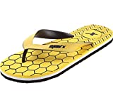 #7: Sparx Men's Flip-Flops and House Slippers (SFG-2023-Yellow)