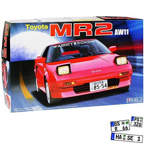 Fujimi Toyota MR2 W1 Coupe Rot 1. Generation 1984-1989 Kit Bausatz 1/24 Modell Auto -