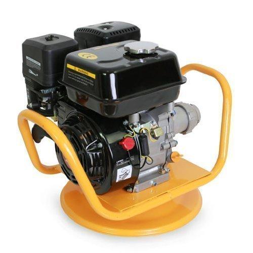 EBERTH Benzin Betonrüttler Vibrator Rüttelflasche (6,5 PS, 4800 Watt, 45 mm, 6 m, luftgekühlt, drehbares Grundgestell) gelb