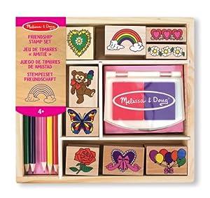 Melissa & Doug- Friendship Cojín de Pegatinas con 9 Piezas, 4+ Años, Multicolor (Melissa&Doug 11632)