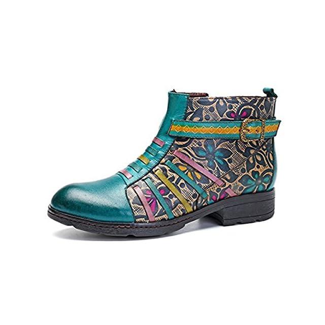 Ville De Chaussures Talon Socofy En Cuir Femme Plate Mocassins qR7cwTI
