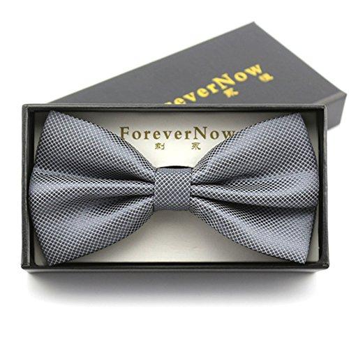 c499267b04ea4 Cravates de proue de mode foncé/noeud pur de guindineau cent de robe