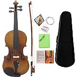ammoon 4/4 Violín de Tamaño Completo Fiddle Acabado Mate Tablero de la Cara del
