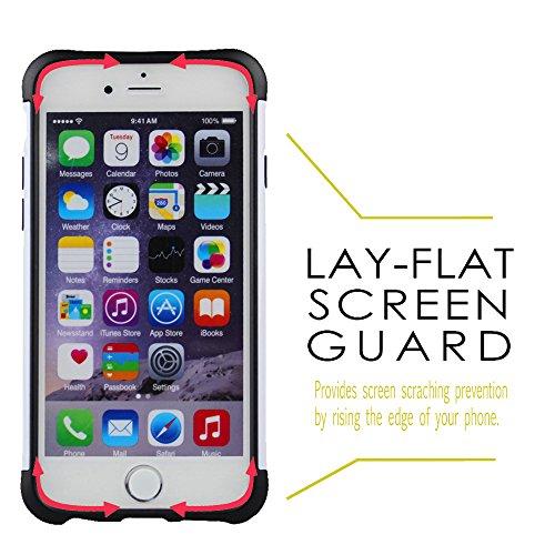 """xhorizon® SchwerlastSchild Hart/Weich Hybrid Schale DoppelschichtHülle Case Für iPhone 6 (4.7"""")/iPhone 6 Plus (5.5"""") iPhone 6 Weiß"""