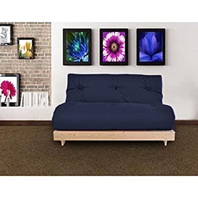 Changing Sofas Complete Double Seater Futon Sofabed, Navy Blue - inexpensive UK sofabed store.