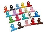 20pcs mischte Farbe Metall Bulldog-Clips, Dienstprogramm Büroklammern, Scharnierklammern für Haus, Bürogebrauch, Büroklammer