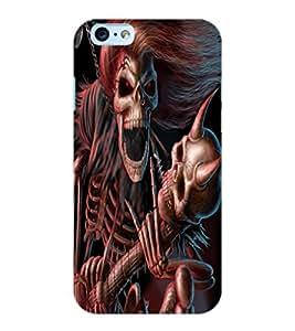ColourCraft Rockstar Skeleton Design Back Case Cover for APPLE IPHONE 6S