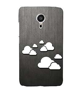 Clouds Pattern 3D Hard Polycarbonate Designer Back Case Cover for Meizu MX5
