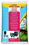 sera 08463 Filterwatte 250 g weiss + fein für Aquarium und Teich sowie Pool im Filter gegen alle Wassertrübungen und ideal zur leichten Reinigung von Scheiben oder Rändern auf Wänden