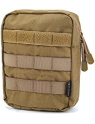 Oleader Tactical First Aid Molle Pouch Survival Combat Medical Bag Utility Gadget Bag for Camping Hiking Cycling (Bag Only)