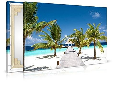 Leinwandbild Ocean Flair - Fertig Aufgespannt - Gemälde, Kunstdruck, Wandbild, Keilrahmen, Bild auf Leinwand von Trendwände - Format: 120x80cm, Standard: Vlies-Leinwand 2cm