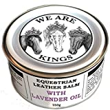 Dirtbusters We Are Kings lavender oil equestrian leather balm cleaner and deep conditioner 150g for saddles tack boots
